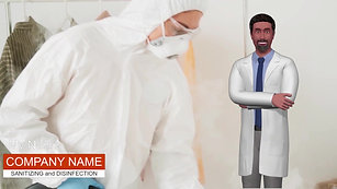 Male Avatar Video Template - Disinfection