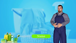 Male Avatar Video Template - Cleaning Services