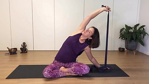 Yoga express - move to meditate | upper body with strap | 30min