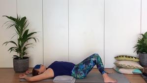 Restorative yoga - gentle backbend | no yoga props | 10min