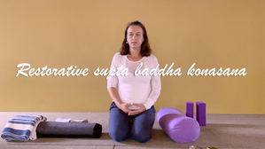 Restorative yoga - reclined bound angle pose + breathing | with yoga props | 20min