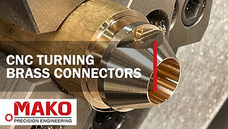 CNC Turning - Brass Connectors