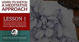 Lesson 1 - Pen & Brush Techniques - Eye, Heart, Hand, Connection