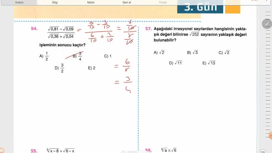 Matematik 3.Gün