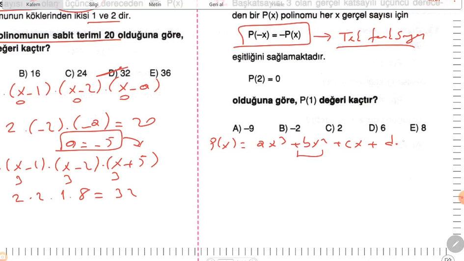 Matematik Ayt 1.Gün (1-45)