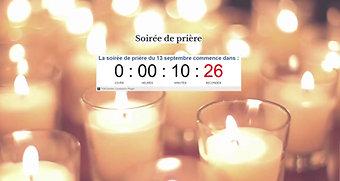 Soirée de prière du 13 septembre 2021