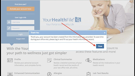 How to Create a YourHealthFile Account