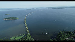 Aerial drone shot of the Causeway
