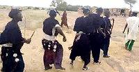 Efter høsten i Kassogue's landsby i Dogon, Mali