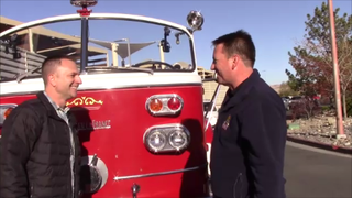 Firefighters in Fire Trucks getting Ice Cream - Paul Strong Preview