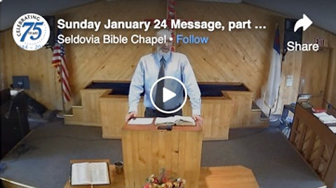 Sunday January 24 Message, part 3 in the Armor of God study