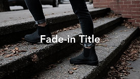 Fade In Title Sample