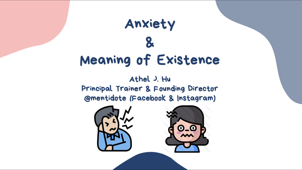 Course 3 Anxiety & Meaning of Existence