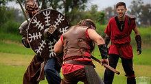 Combate de Vikingos