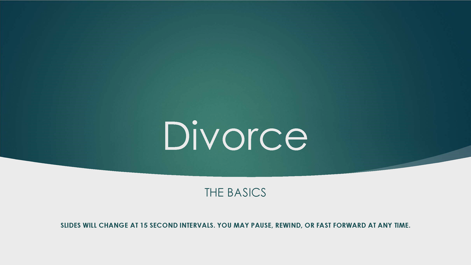 Divorce Basics