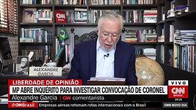 Alexandre Garcia comenta na CNN nota publicada pela AMEBRASIL