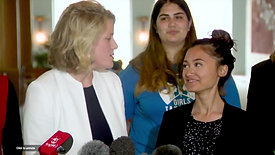 Press Conference for Girls Takeover Parliament