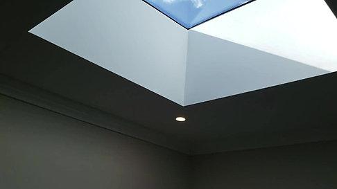 Box Style Skylight Install W/ Potlights