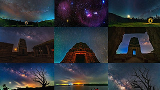 Timelapse of Nightsky India