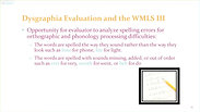 Using the WMLS III in Your Dysgraphia Evaluation