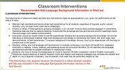 Overview: The WMLS III Teacher and Parent Intervention System