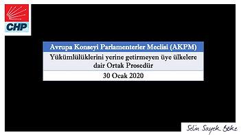 "AKPM 30 Ocak 2020 ""Ortak Prosedür"""