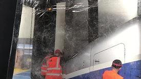 Installation cabine de peinture peinture SNCF