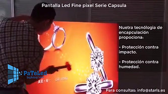 PaTaLed Video Patalla Led Fine pixel Uso Interior Serie Capsula P1-9-P3-0