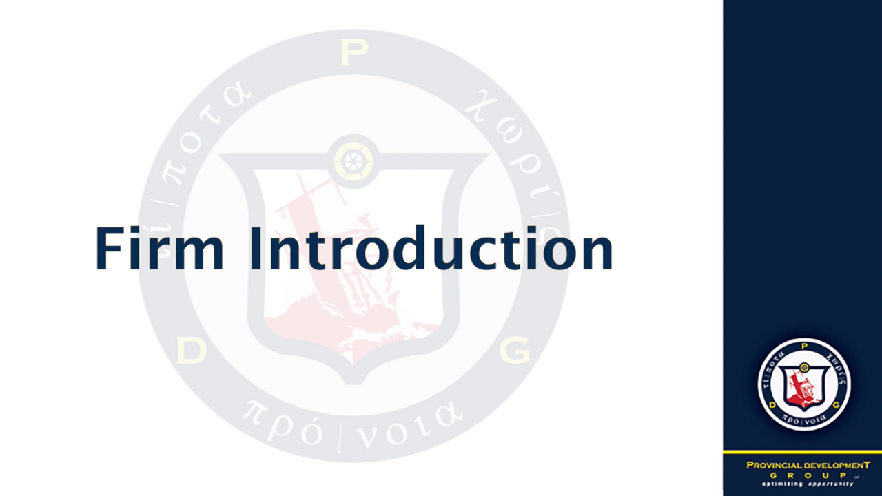 PDG Firm Introduction