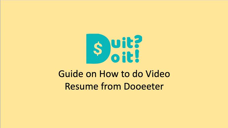 Video Resume