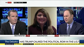 President Trump's state of the union speech - Sky News discussing