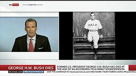George H.W. Death - Sky News