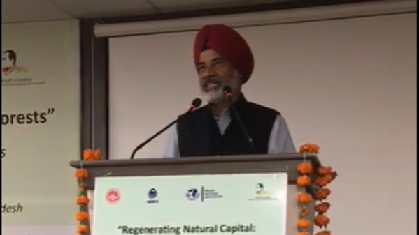 Address during an environment seminar on 'RegeneratingNatural Capital' Land Water and Forests at Bhopal on 27-27 August 2019.