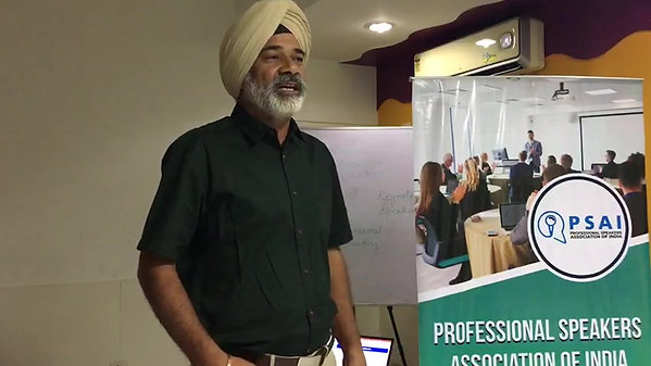 A talk delivered at theProfessional Speakers Association of India ( PSAI)