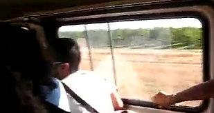 Cantando sul furgone
