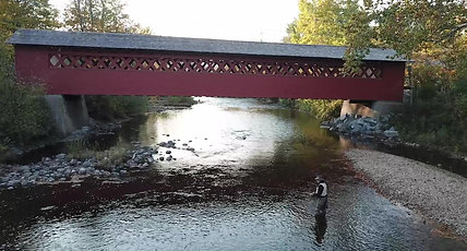 The Legend fishing on The Battenkill River in Arlington Vermont