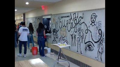 CreativityTake Courage Mural Timelapse
