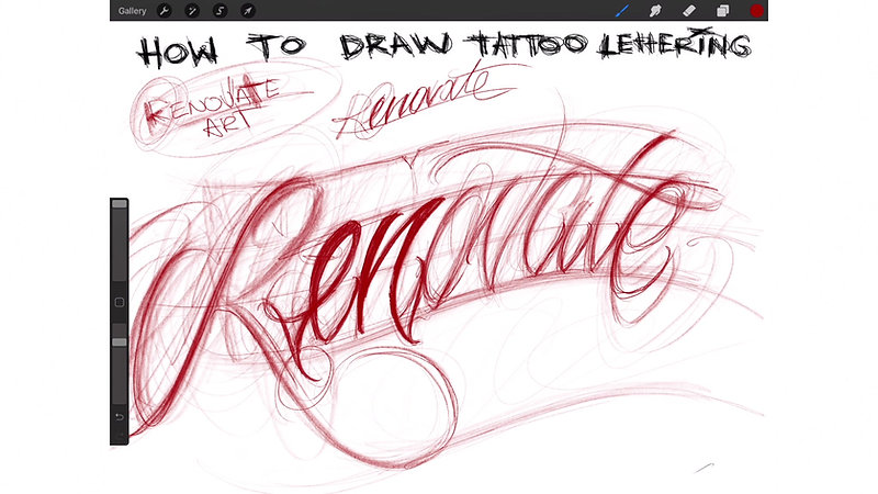 HOW TO DRAW TATTOO LETTERING