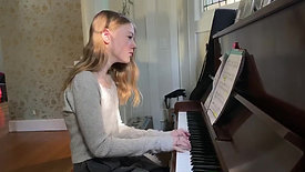 Heather performs Gillock's Sarabande