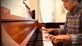 Emile performs JS Bach Solfeggio in D Coda