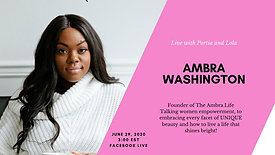 In conversation with Ambra Washington