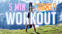 5 minute ENERGY BOOSTING Tabata routine (BODYWEIGHT ONLY!)