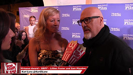 Red Carpet Lilibet Foster and Sam Maydew (Be Here Now - The Andy Whitfield Story)