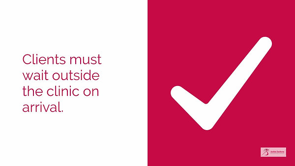 Now open for face to face contact