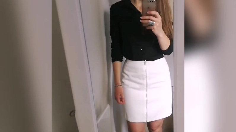 Reversible skirt - white side -  styling