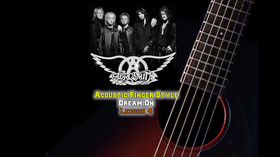 Aerosmith Dream On Lesson 4