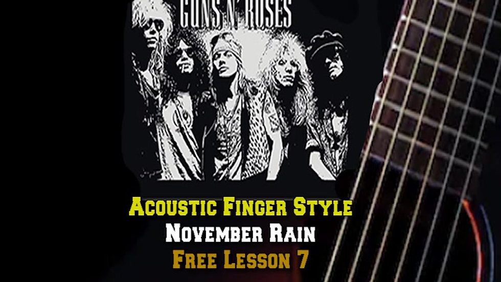 Guns and Roses November Rain Lesson 7