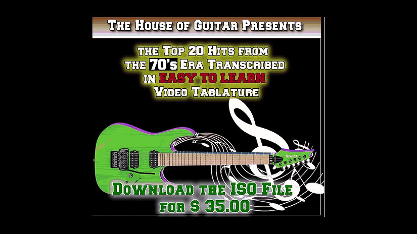 Top 20 Guitar Hits from the 1970's in Video Tab