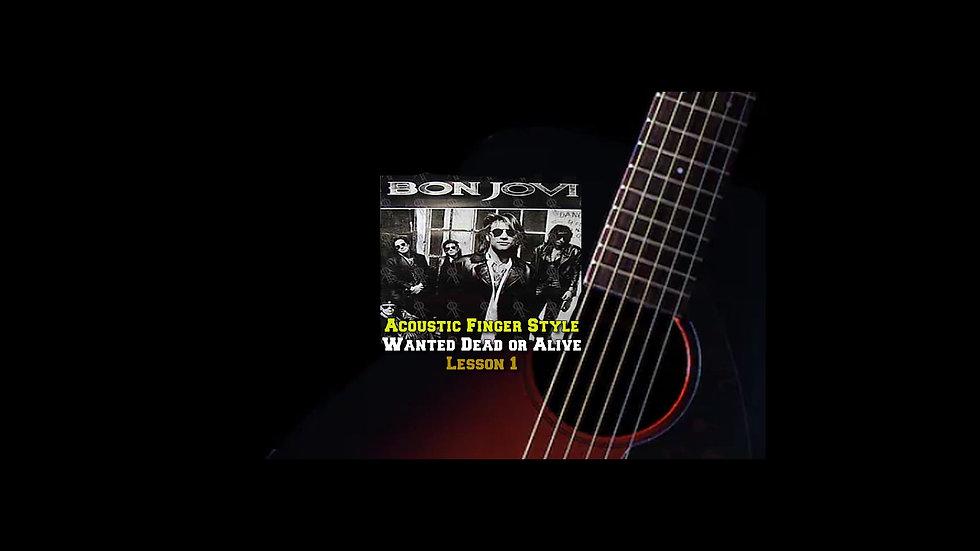 Bon Jovi Wanted or Dead Lesson 1