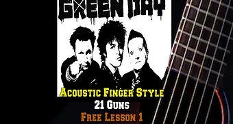 Green Day's 21 Guns Lesson 1